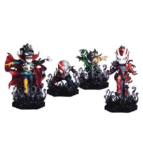 MARVEL MAXIMUM VENOM MEA-018 VENOMIZED 4PC FIG BUNDLE (C: 1- BEAST KINGDOM CO.,
