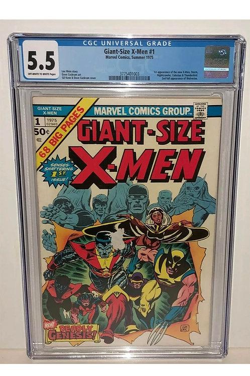 Giant Size X men #1 CGC 5.5 1st Colossus, Storm, nightcrawler, 2nd Wolverine,