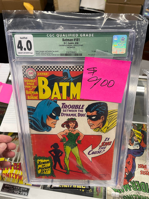 Batman 181 CGC Qualified 4.0 1st poison