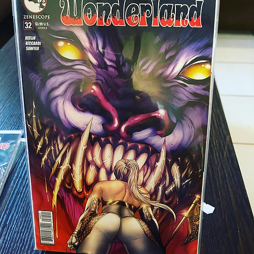Wonderland #32 autographed by Marat, pressed by Jen, graded by CGC