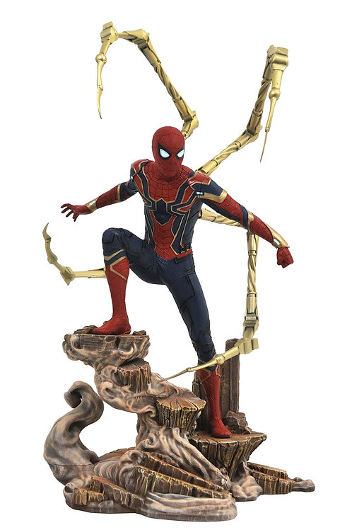 MARVEL GALLERY AVENGERS 3 IRON SPIDER-MAN PVC FIGURE (C: 1-1 DIAMOND SELECT TOYS