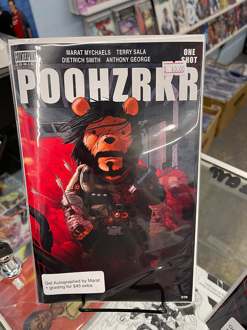 1ST BRZRKR STORE VARIANT! POOHZRKR COVER A BRANDON'S COMICS EXCLUSIVE