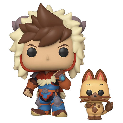 POP & BUDDY MONSTER HUNTER LUTE W/ NAVIROU VINYL FIG (C: 1-1 FUNKO The character