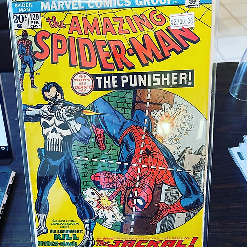 Spiderman 129 crease on cover. 1st Punisher!