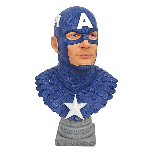 LEGENDS IN 3D MARVEL COMIC CAPTAIN AMERICA 1/2 SCALE BUST (MUST ORDER 6 OR MORE)