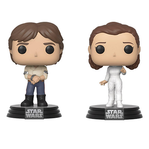 POP STAR WARS HAN AND LEIA 2PK (Must order 9 or more)