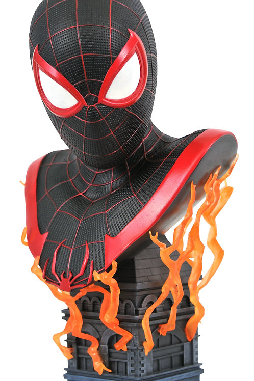 MARVEL LEGENDS IN 3D PS5 MILES MORALES 1/2 SCALE BUST SHIPS 7/1/21