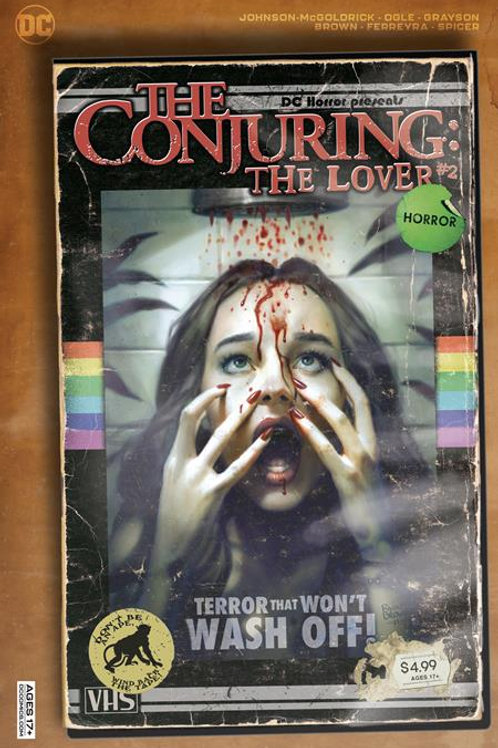 DC HORROR PRESENTS THE CONJURING THE LOVER #2 (OF 5) CVR B RYAN BROWN VHS TRIBUT