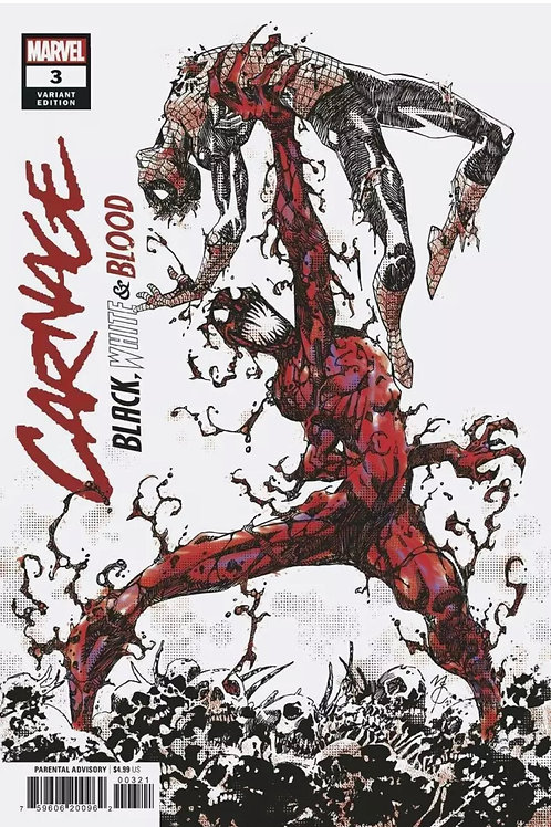 Carnage black, white, and blood #3 1:25