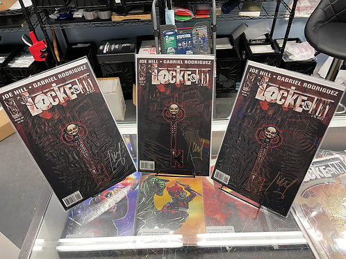 Locke and Key #1 3 pack bundle GOLD,SILVER,COPPER, autoed by Jay Fotos W/ COAS