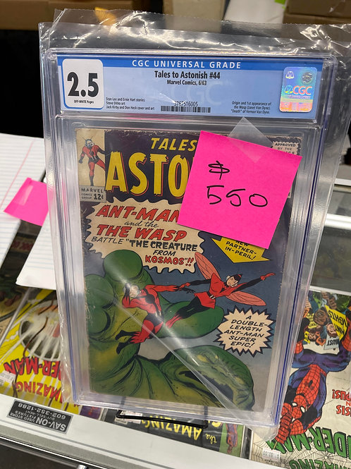Tales to Astonish 44 CGC 2.5 1st Wasp