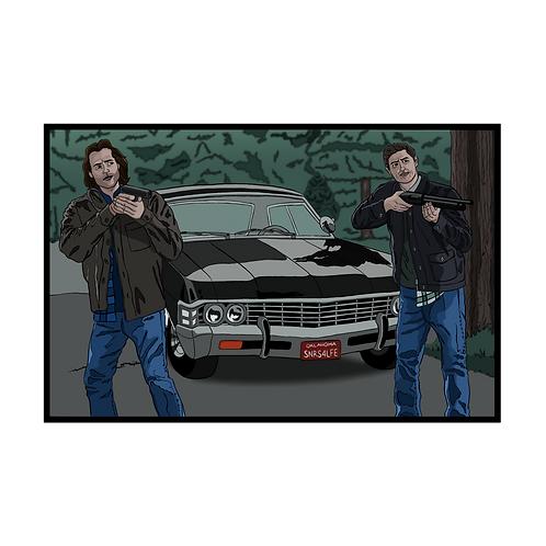 """Supernatural: Sam & Dean Fan Art, 11"""" X 17"""""""