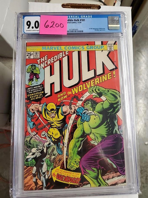 Incredible Hulk #181, CGC 9.0