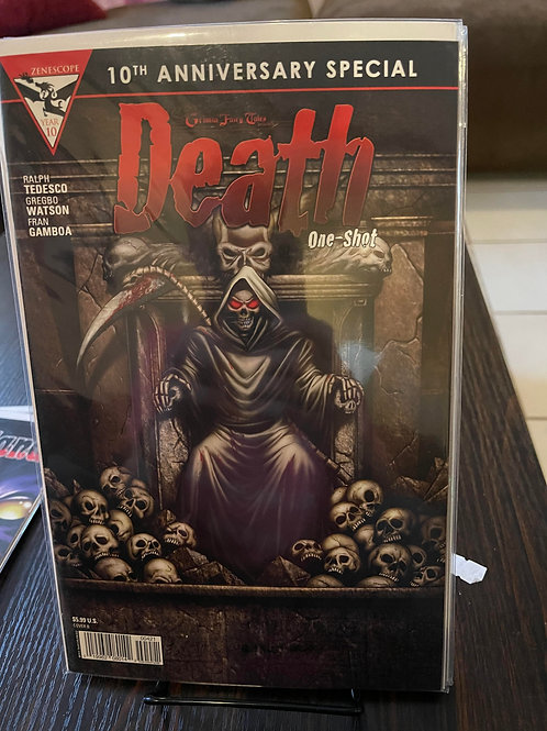 Death 1 10th anniversary Pressed by Jen, autographed by Marat, graded by CGC