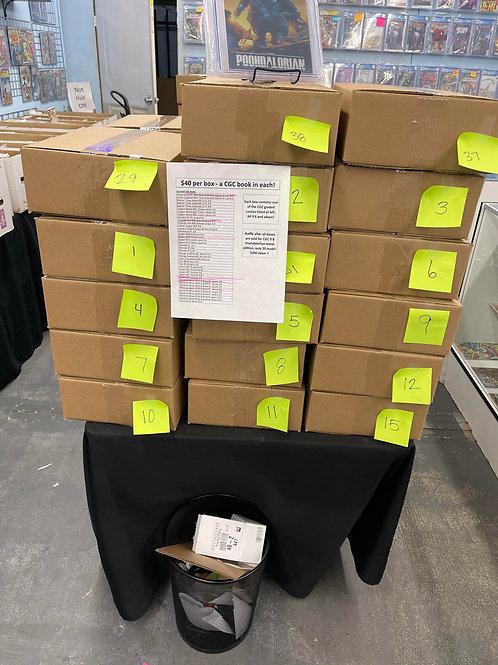 $40 CGC mystery boxes guaranteed 9.6 w/raffle 19/20 CGC 9.8 Poohdalorian $300val