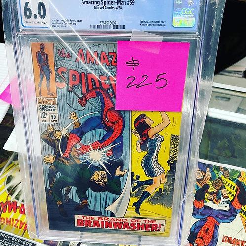 Amazing Spiderman 59 CGC 6.0