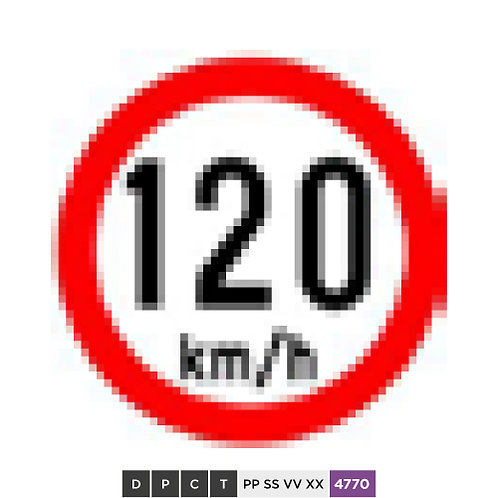 Speed limit 120 km/h