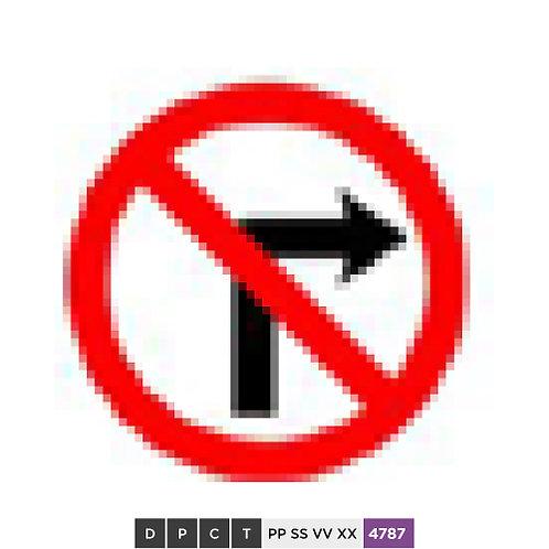 No right turn / No turn right