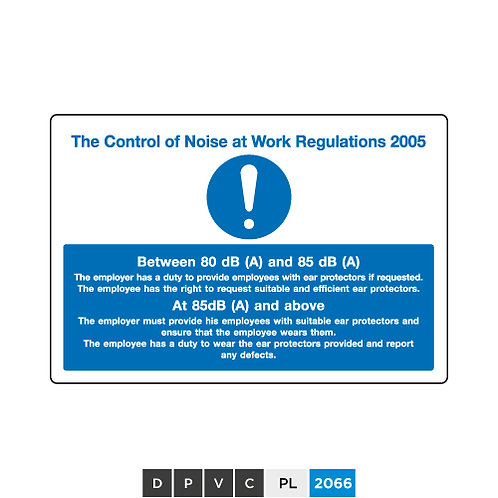 The Control of Noise at Work Regulations 2005