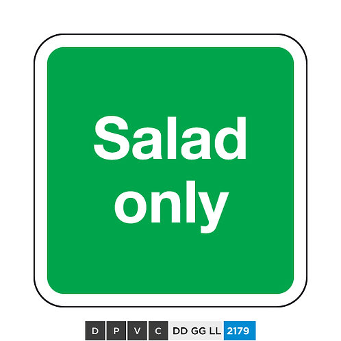 Salad only