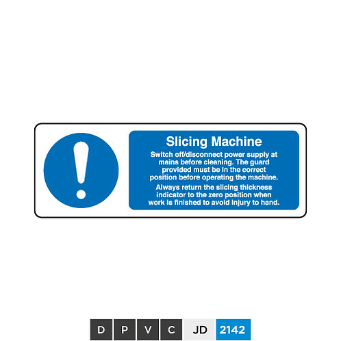 Slicing Machine notice