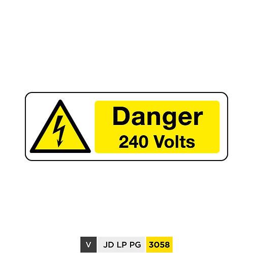 Danger, 240 Volts