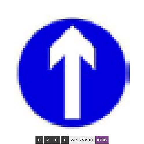 Keep straight ahead