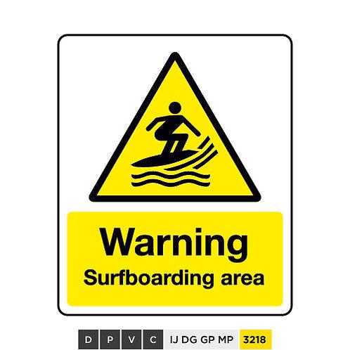 Warning, Surfboarding area