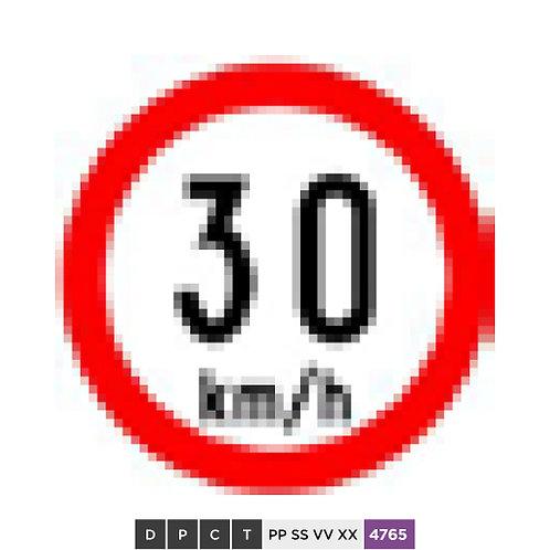 Speed limit 30 km/h