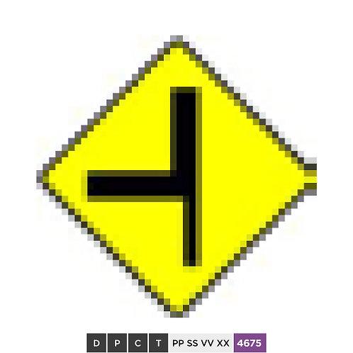 Junction With Major Road at Sharp Corner - Left