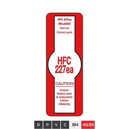 HFC 227ea Release Manual Control Point