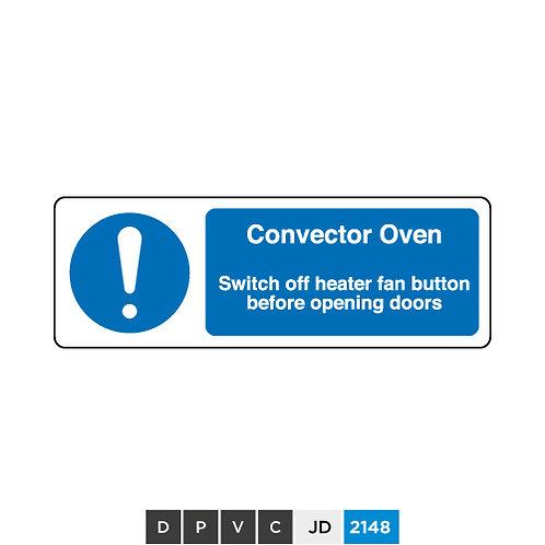 Convector Oven notice