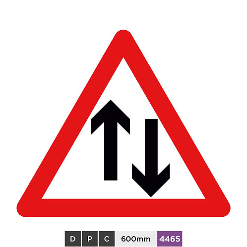 Two-way traffic straight ahead