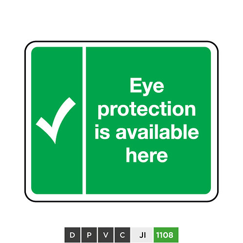 Eye Protection is Available Here