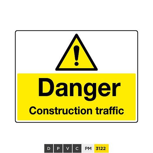 Danger, Construction traffic