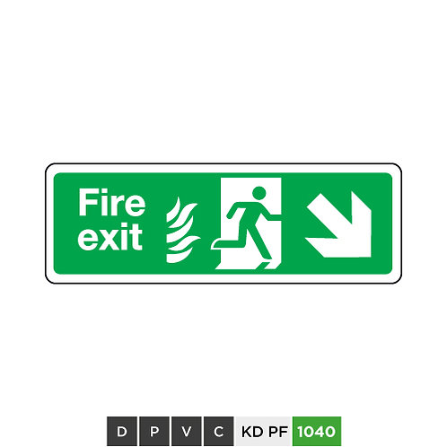 Fire exit  (arrow down-right)