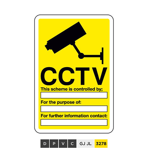CCTV, This scheme is controlled by (insert text) For the purpose of ...