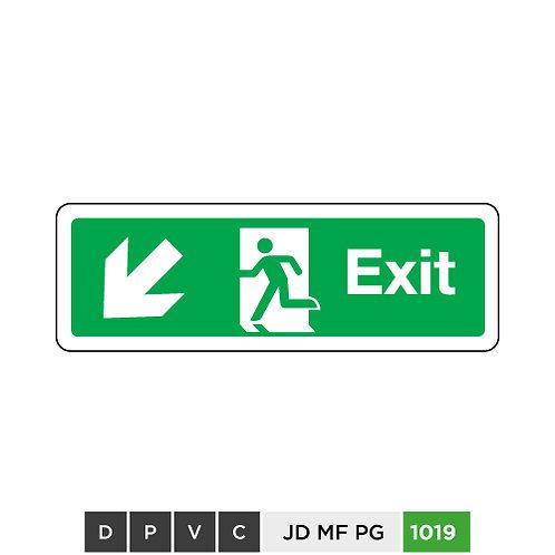 Exit (arrow down-left)