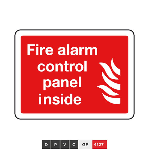 Fire alarm control panel inside