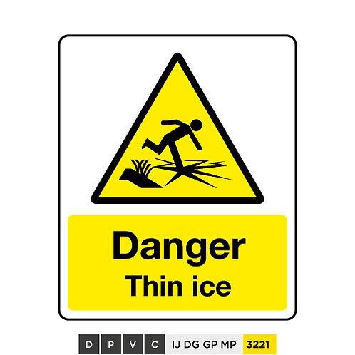 Danger, Thin ice
