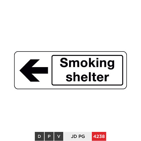 Smoking shelter (with left arrow)