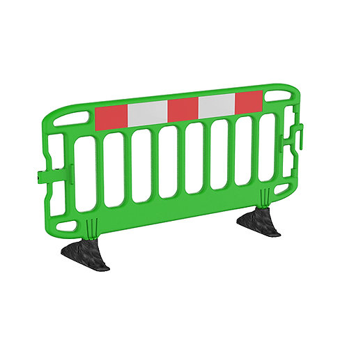 Navigator® 2M Traffic Barrier Anti-Trip Black Feet - Green