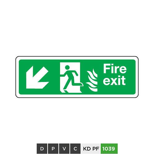 Fire exit  (arrow down-left)