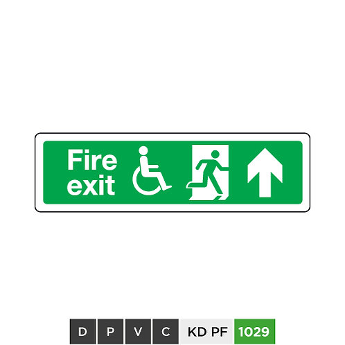 Fire exit (arrow up)