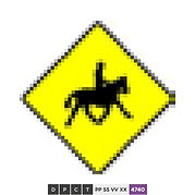 Accompanied horses or ponies crossing