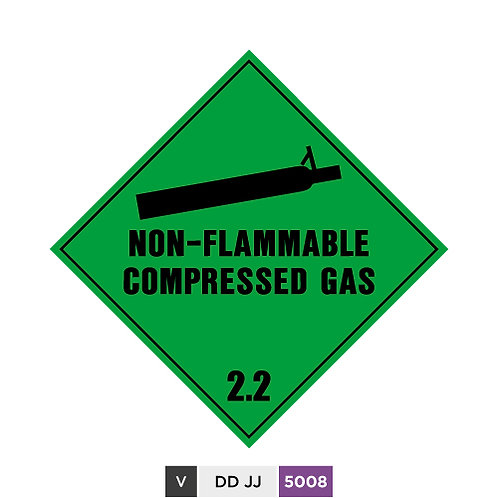 Non-flammable Compressed Gas 2.2