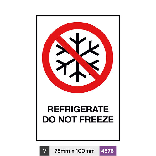 Refrigerate, Do not freeze