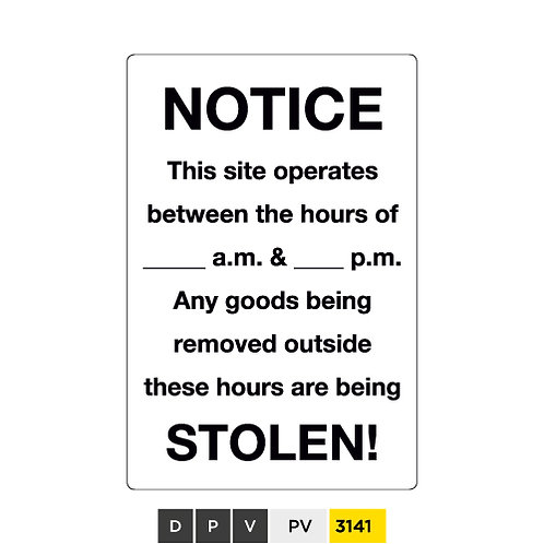 Notice, This site operates between...