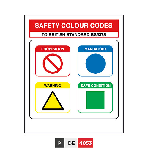 Safety Colour Codes, TO BRITISH STANDARD BS5378