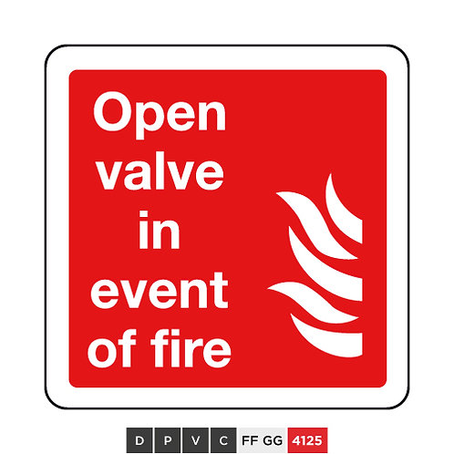 Open valve in event of fire